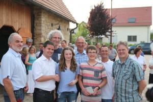 v.l.: Ewald Engelbert, Jens Spanberger, Roland Preuß, Hannah Schwarz, Rüdiger Burkard, Tim Brucker, Andreas Zimmermann, Oliver Eschelbacher