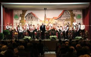 Blasorchester beim Winterkonzert 2015